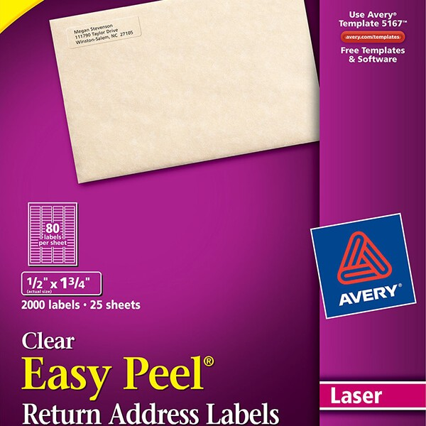 avery return address labels made by creative label