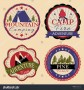Camp Sticker Labels