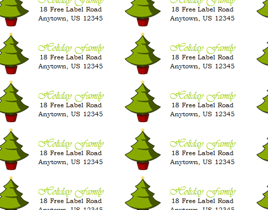 cheap holiday return address labels holiday return address