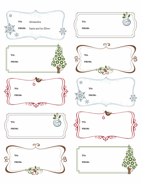 christmas labels templates word 10 christmas labels and badge