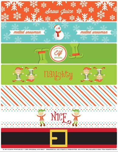 Christmas Water Bottle Labels Free Printable Il Fullxfull 693344102