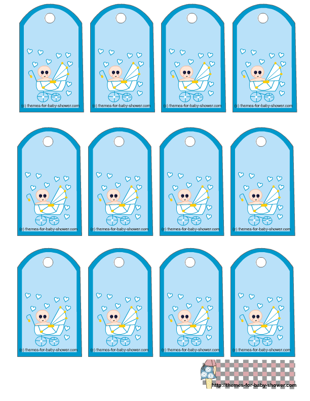 photograph regarding Baby Shower Gift Tag Printable named boy or girl shower labels templates -