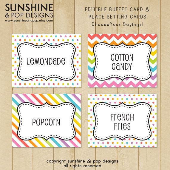 photograph relating to Free Printable Buffet Food Labels known as cost-free printable buffet food items labels