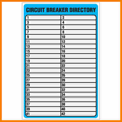 photo regarding Printable Circuit Breaker Directory Template called totally free printable circuit breaker panel labels circuit breaker