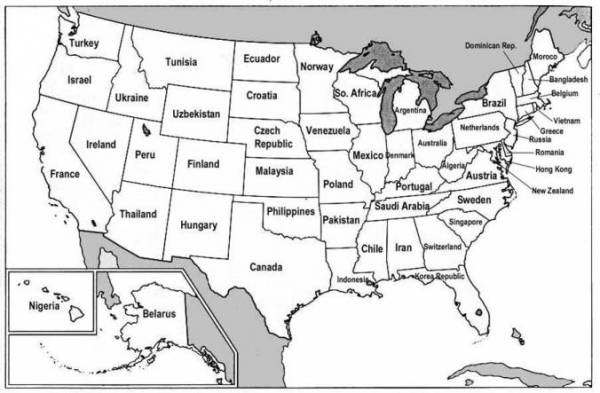 free printable labeled map of the united states free pictures of us ...