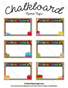free printable name labels for kids