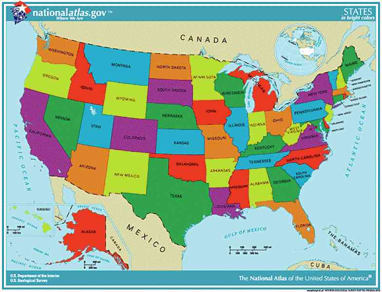 labeled map of states in the usa large us map states labeled usa ...