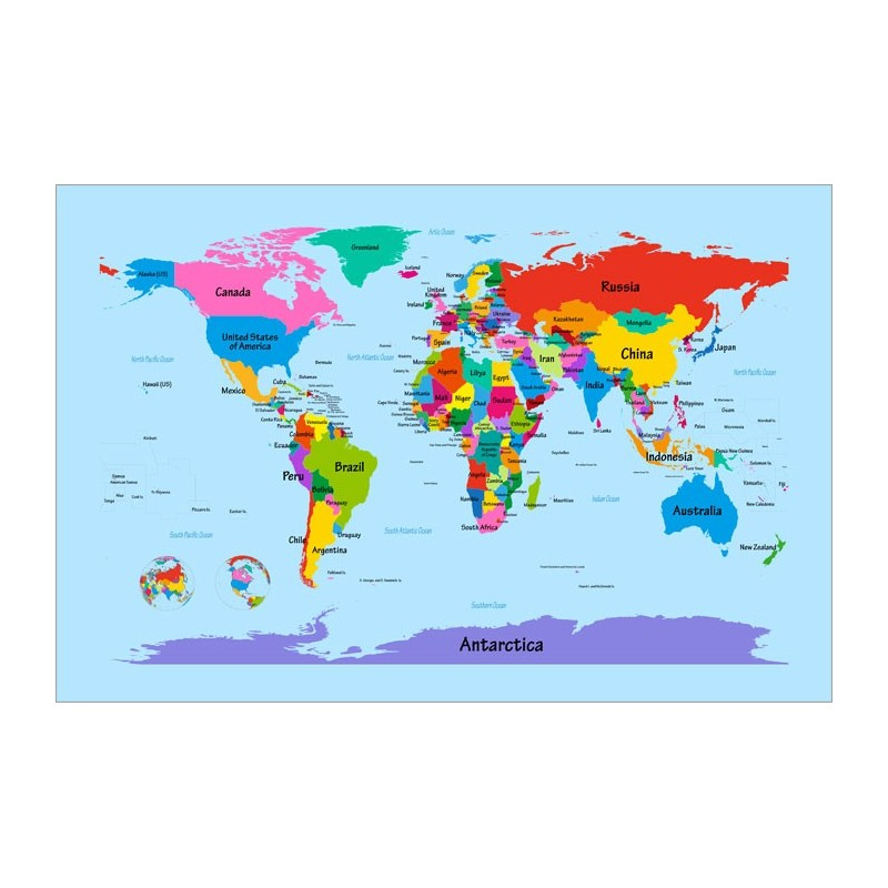 large printable world map labeled world map with big text for kids ...