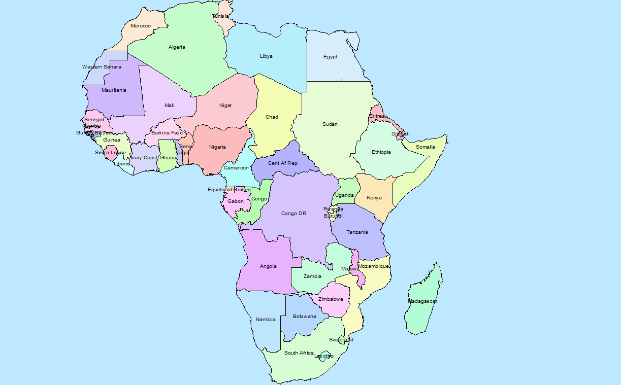 Map Of Africa Countries Labeled.Map Of Africa Without Countries Labeled Jackenjuul