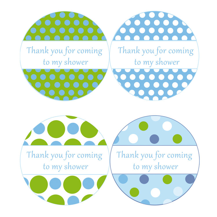 image about Printable Baby Shower Labels titled printable child shower labels boy boy or girl shower spherical labels 1