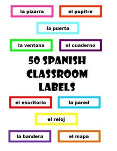printable classroom labels in english and spanish