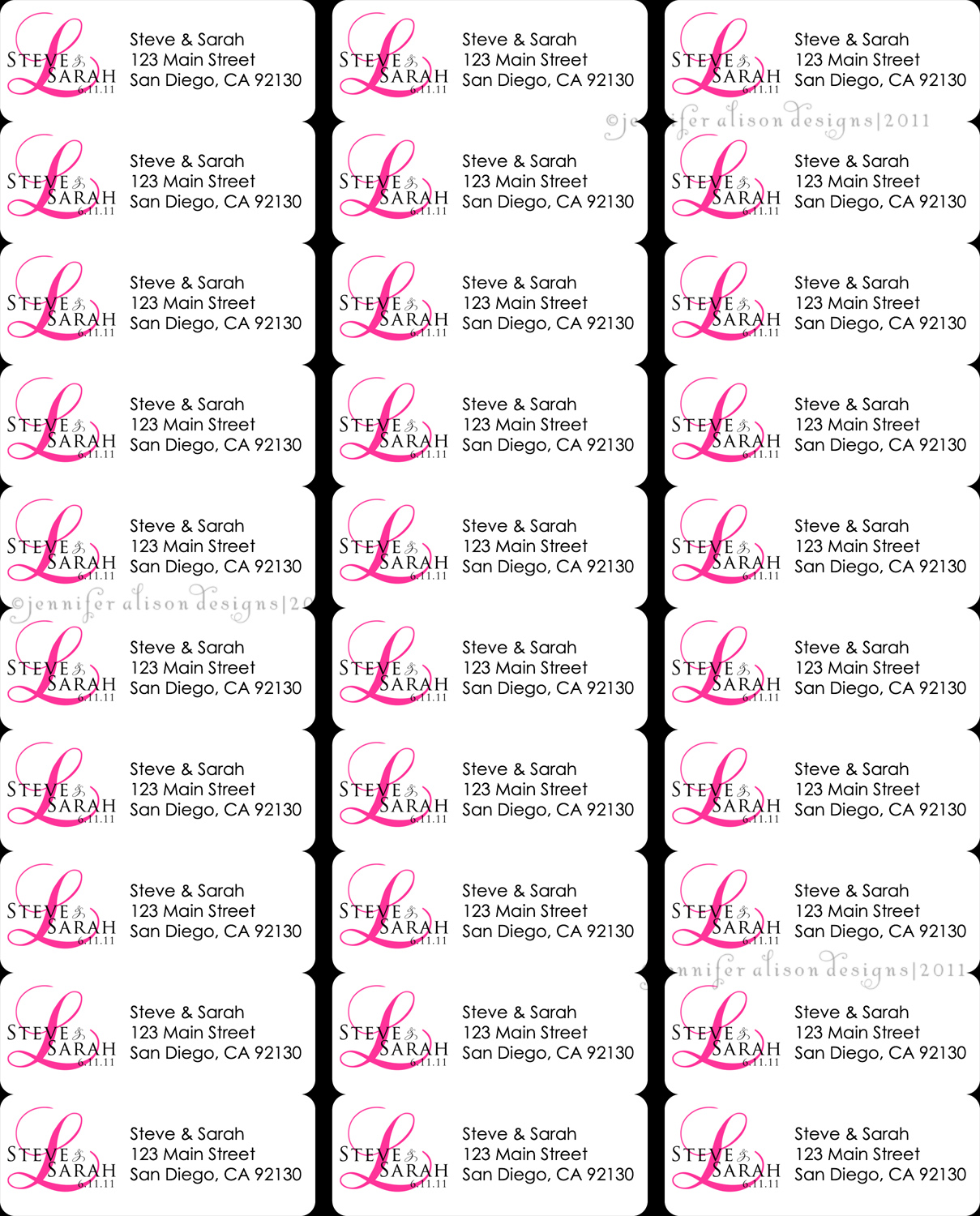 return address labels template 30 per sheet