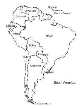 south america map labeled cae9007a31869311052d6d15aa4ad4b8 mappa ...