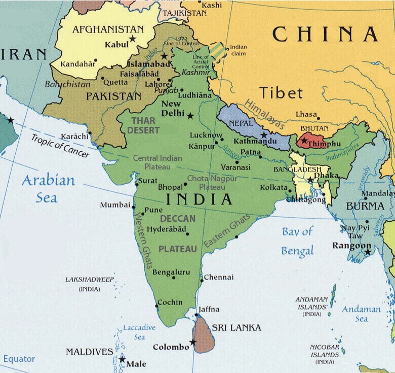 south asia map labeled south asia political map with country names ...