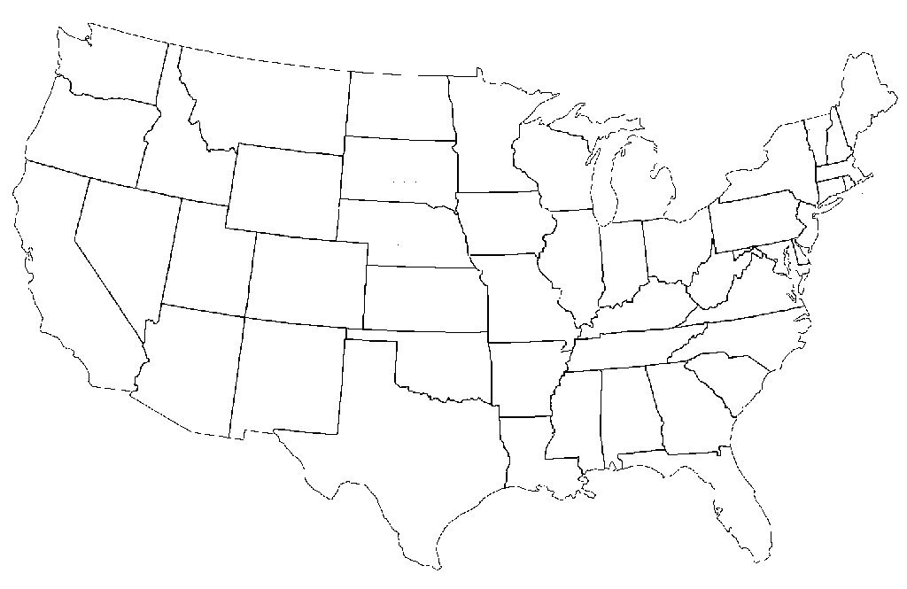 us map without labels map of us without names us map without ...