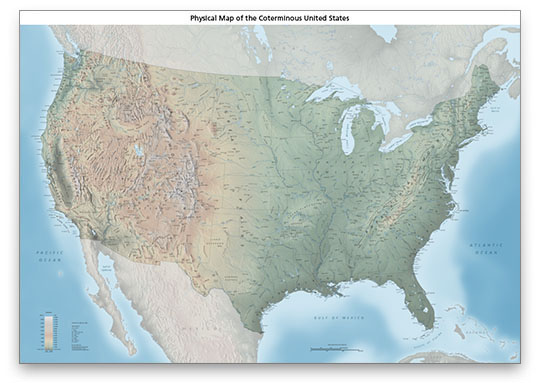 usa physical map with labels version1thumb - Made By Creative Label