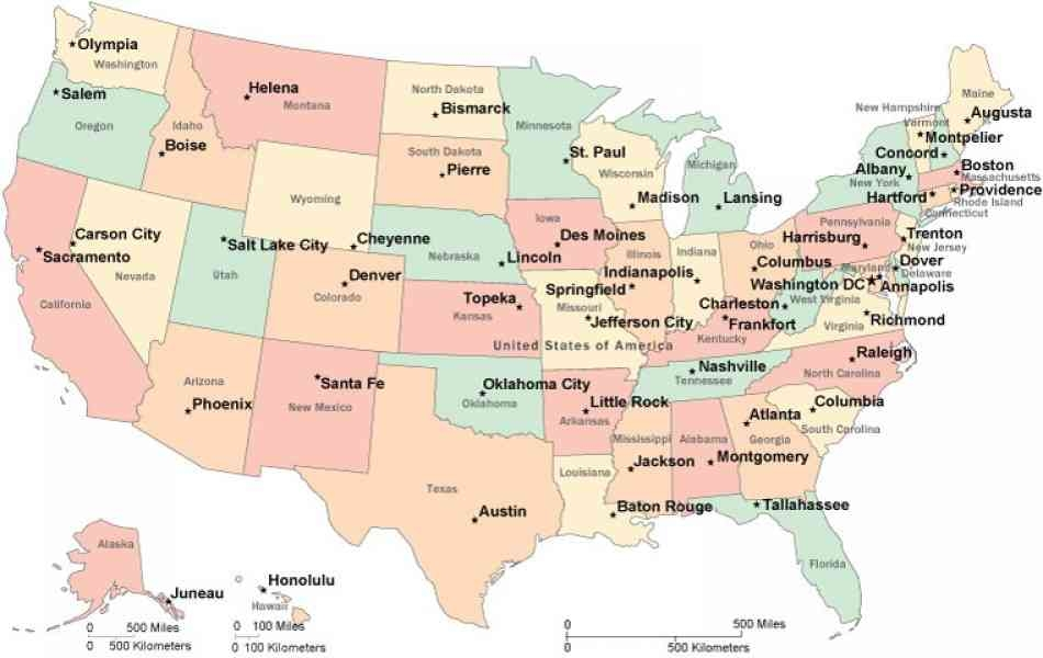 50 States Labeled Labeled Map Of America Us Map Labeled States Us - Map-us-states-labeled