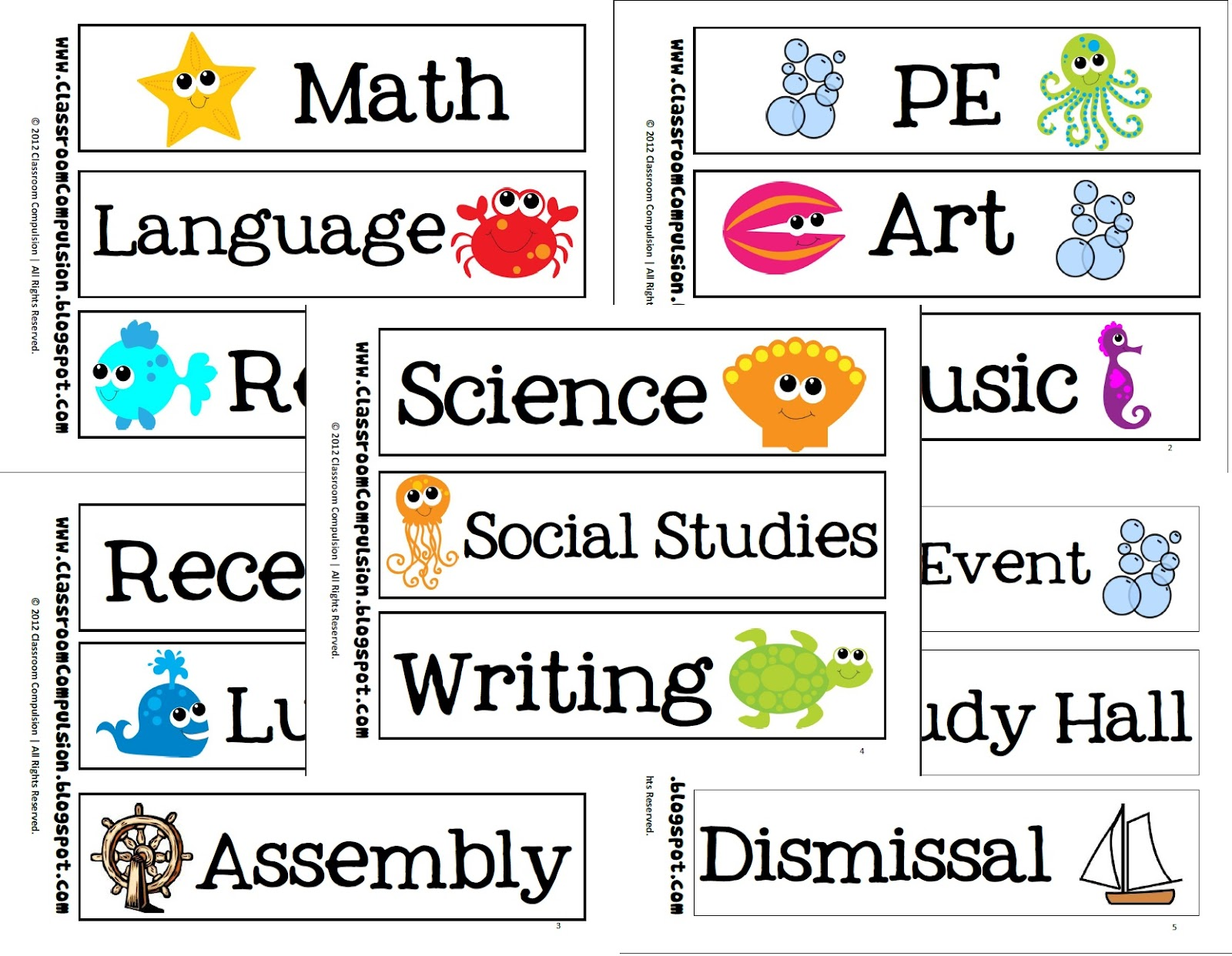free printable school subject labels school subject labels classroom 186699