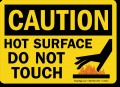 Hot Surface Do Not Touch Label