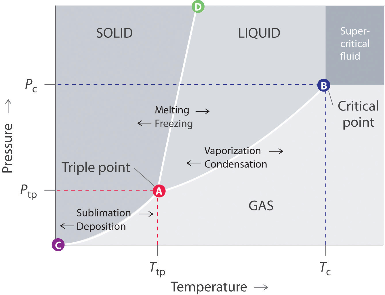 Label The Phase Diagram For Carbon Dioxide Carbon Dioxide Pressure