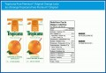 Tropicana Orange Juice Nutrition Facts Label
