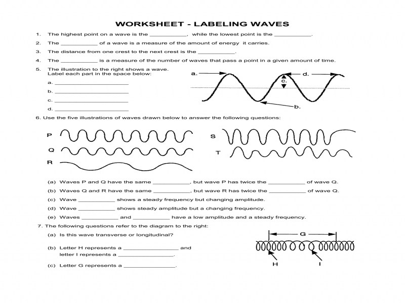 Worksheet Labeling Waves Answers   Made By Creative Label