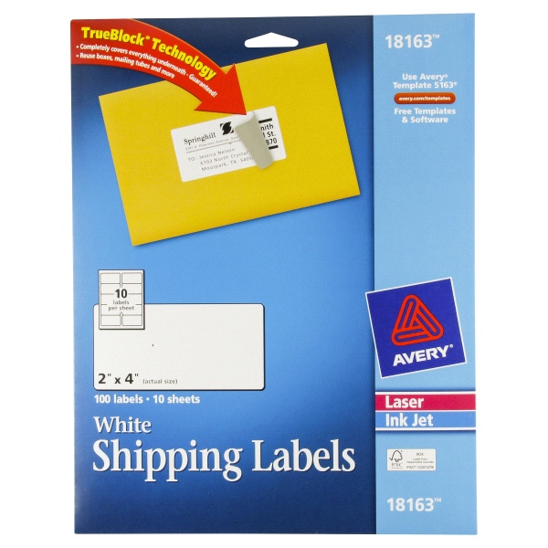 Avery 2 4 Shipping Labels 2 4 Label Template Word Avery 5163