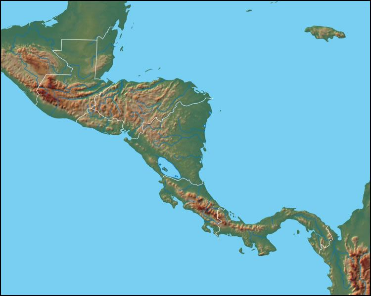 central america physical map with labels 7208 004 a57cc27e - Made By ...