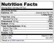 Scrambled Egg Nutrition Label