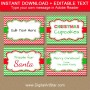 Christmas Food Labels